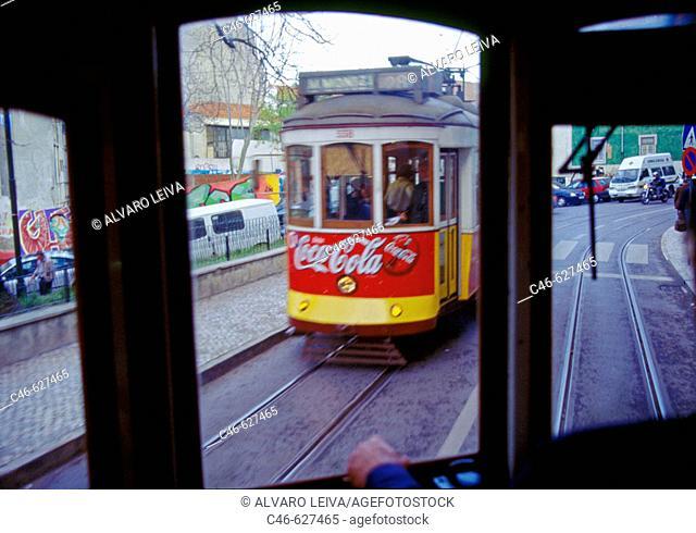 Tram. Lisbon. Portugal