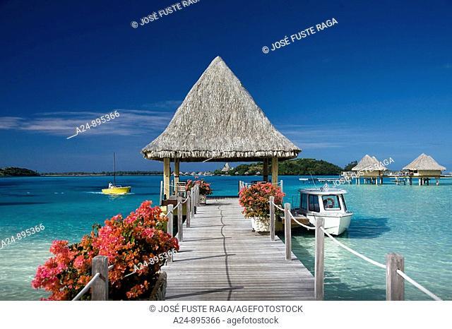 Pier at the InterContinental Resort, Bora Bora island, Society Islands, French Polynesia (May 2009)