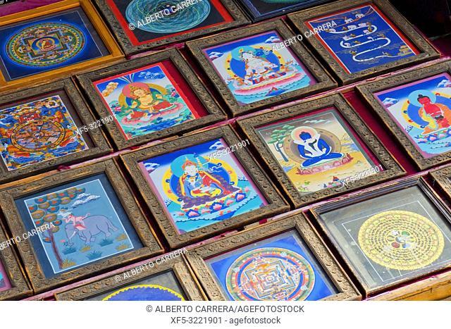 Souvenirs Shop, Boudhanath Stupa, UNESCO World Heritage Siite, Kathmandu, Nepal, Asia