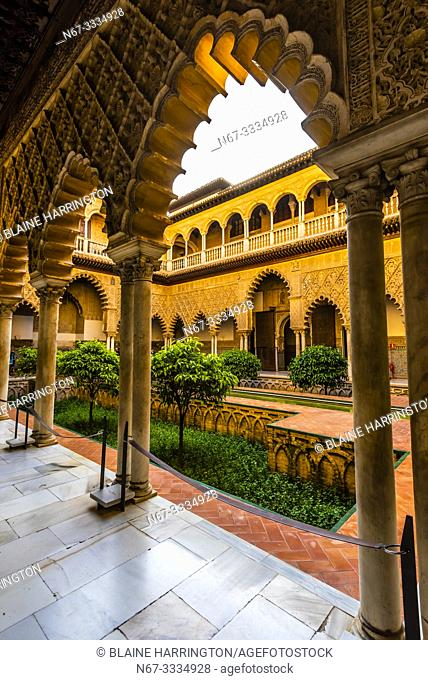 The Alcázar of Seville (Real Alcazar) is a royal palace in Seville, Spain, built for the Christian king Peter of Castile