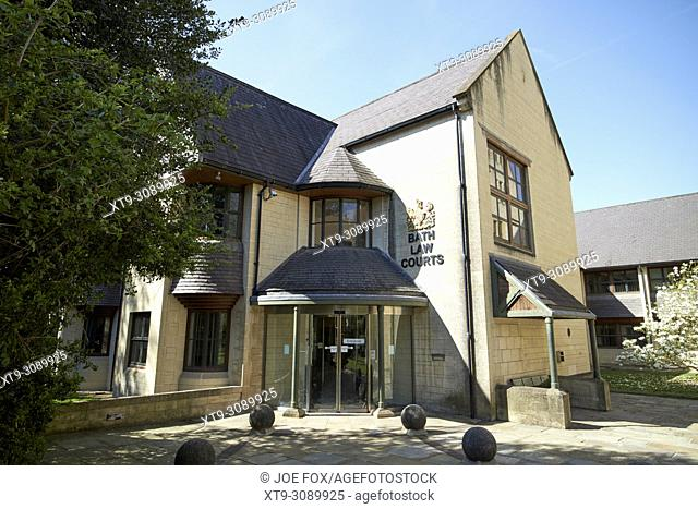 Bath law courts home to bath magistrates court Bath England UK
