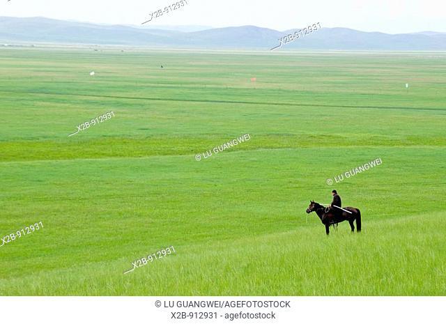 July 2009,Hulunbeier landscape in China's Inner Mongolia Grassland