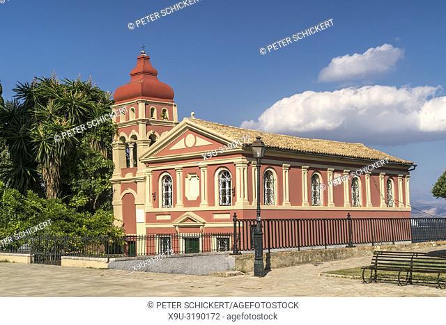 Griechisch orthodoxe Kirche Panagia Mandrakina in Korfu Stadt, Kerkyra, Griechenland, Europa | Corfu or Kerkyra city, Greece, Europe