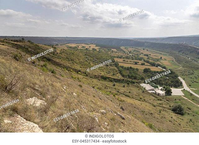 Beautiful rural landscape. Old Orhei - the sacred place of Moldova. The valley of thr river Reut