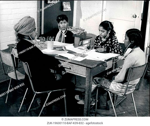 1980 - Wolverhampton, England - School Integration in UK: At a Remedial Teaching Centre in Wolverhampton young colored immigrants are taught English by the most...