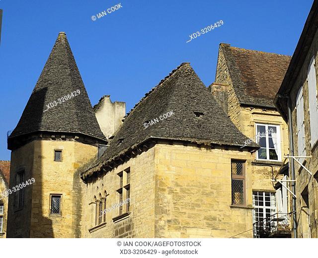 medieval architecture, Sarlat-la-Caneda, Dordogne Department, Nouvelle-Aquitaine, France