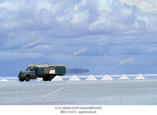 Salt excavation, Salar de Uyuni, Bolivia