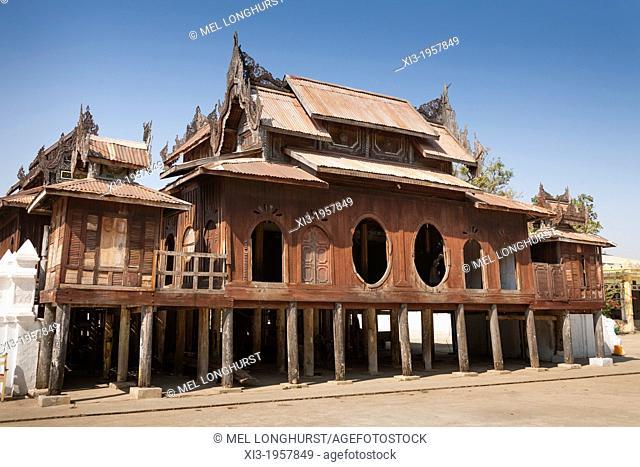 Shwe Yan Pyay Monastery, also known as Shwe Yaunghwe Monastery, Nyaung Shwe, Shan State, Myanmar, (Burma)