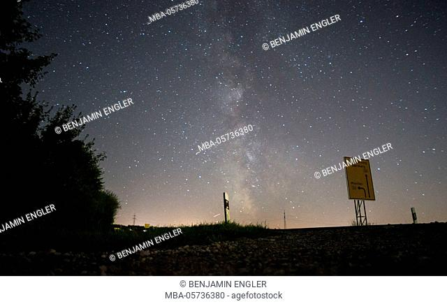 Long-exposure photography at night, Milky Way