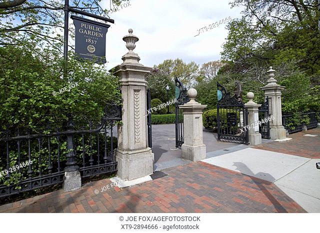 entrance to Boston public garden USA
