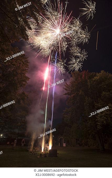 Port Huron Township, Michigan - A home fireworks show