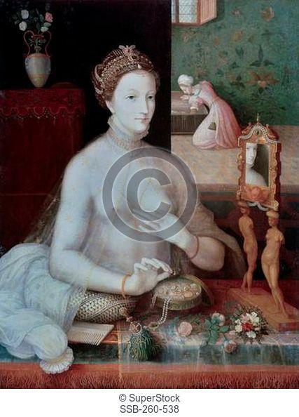 Portrait Of A Woman 16th C. Artist Unknown