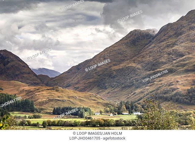 View over Glen Ure in West Argyll in Scotland