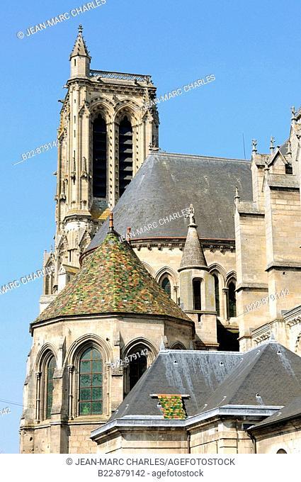 Cathedral of Saint-Gervais-et-Saint-Protais, Soissons. Aisne, Picardy, France