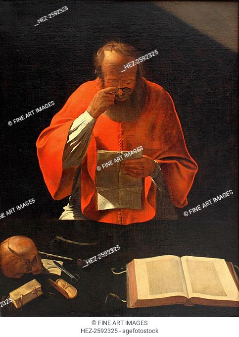 Saint Jerome reading (Copy), ca 1636. Found in the collection of the Louvre, Paris