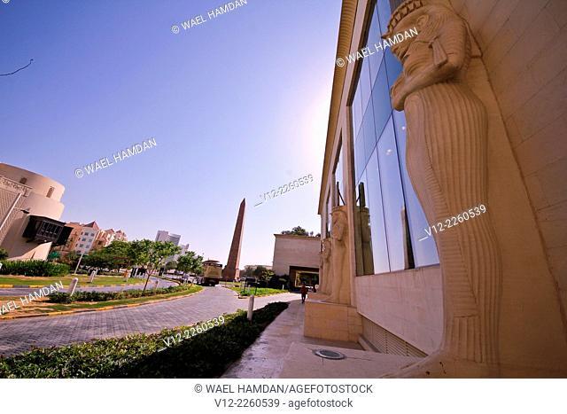 Egyptian Statue at the entrance of WAFI mall in Dubai, United Arab Emirates