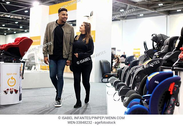 Jordan Banjo and his girlfriend Naomi Courts attend the Baby Show at ExCeL London on Friday March 2, 2018. Featuring: Jordan Banjo, Naomi Courts Where: London