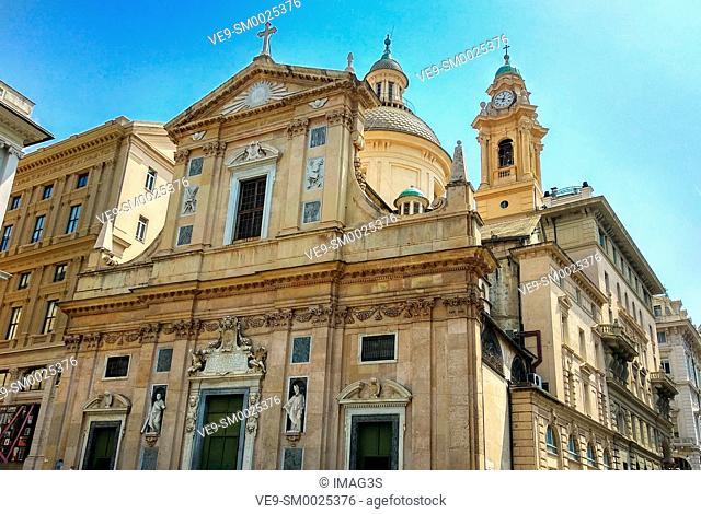 Chiesa del Gesù e dei Santi Ambrogio e Andrea, Genoa, Italy