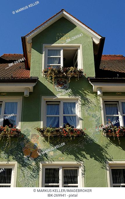 Detail view from a house in old part of town, Meersburg, Baden Wuerttemberg, Germany, Europe