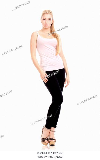 adult, attractive, beautiful, beauty, blond, Caucasian, female, girl, hair, human, isolated, long, model, modern, one, people, person, pose, posing, pretty