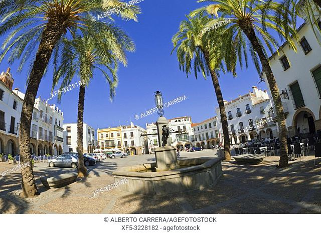 Plaza Grande, Big Square, Arcaded Square, Zafra, Badajoz, Extremadura, Spain, Europe