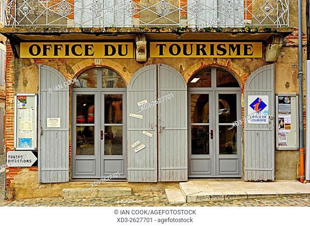 Tourism Office, Place de la Halle, Auvillar, Tarn-et-Garonne Department, Midi-Pyrenees, France
