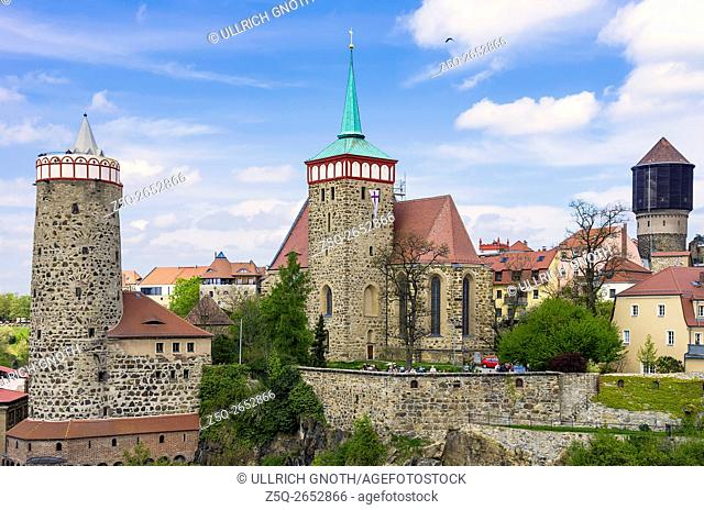 Classic view of the skyline of the historic old town of Bautzen, Upper Lusatia, Saxony, Germany
