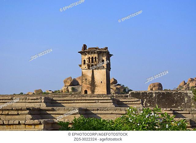 Watch Tower In Zenana Enclosure, Hampi Monuments, Karnataka , India