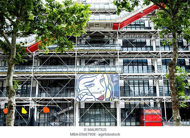 Pompidou Centre museum in Paris, France