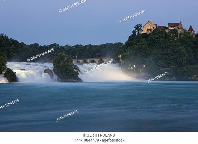Switzerland, Europe, Rhine falls, Rheinfall, River Rhine, Spring, near Schaffhausen, Water, Waterfall, Stream, Nature