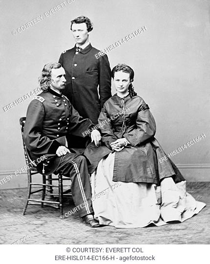 George Armstrong Custer, seated with his wife Elizabeth and his brother, Thomas W. Custer. Several movies have been based on his military exploits and death at...