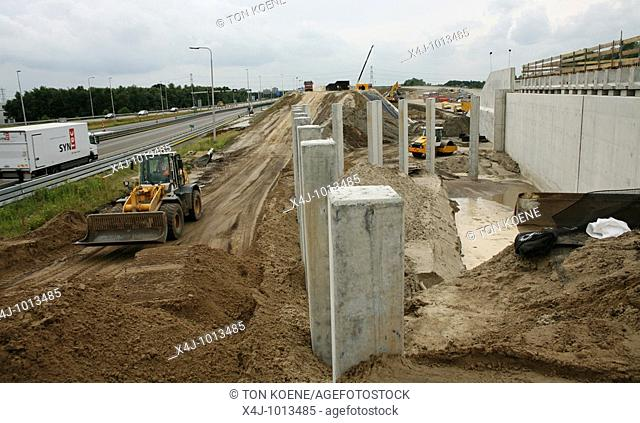 Construction and extention of the ring-road around Eindhoven, South Netherlands