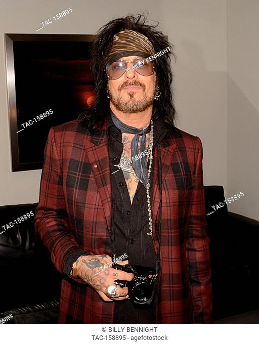 "Nikki Sixx attends the Nikki Sixx Photo Exhibit """"Conversations with Angeles"""" and Leica Q Launch at Leica Store and Gallery Los Angeles on October 4"