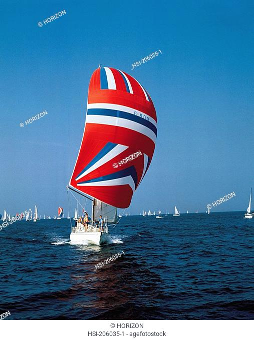 Lifestyle, Sport, Sailing, Yacht, Transport, Spinnaker sail
