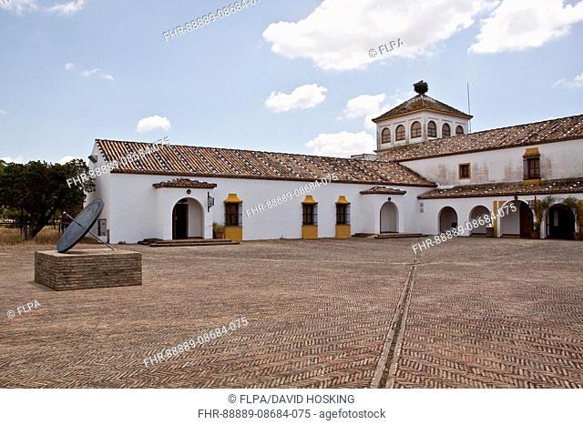 Coto Donana, courtyard of the visitor centre, El Acebuche