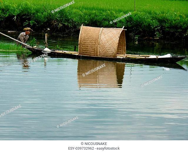 Fisherman hard working in Hoi An, Vietnam
