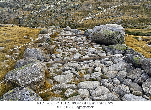 The Big Lagoon Path in the Sierra de Gredos. Avila. Spain