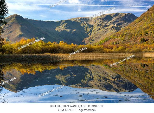 View over Brothers Water towards High Hartsop Dodd in the Lake District National Park, Cumbria, England, UK, Europe