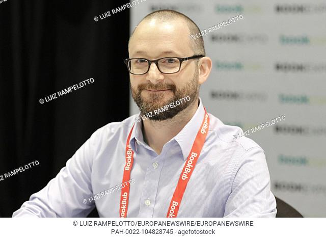 Jacob K. Javits Convention Center, New York, USA, May 31 2018 - Kevin Cornell Author, Illustrator of Lucy Fell Down the Mountain During the 2018 edition of...