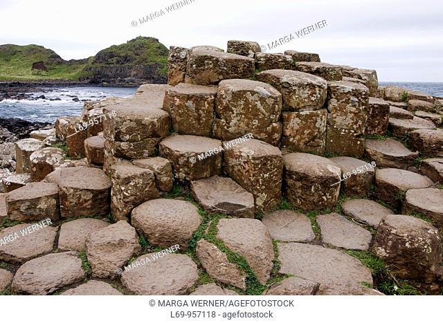 Hexagonal colums at Giant's Causeway, County Antrim, Northern Ireland, UK