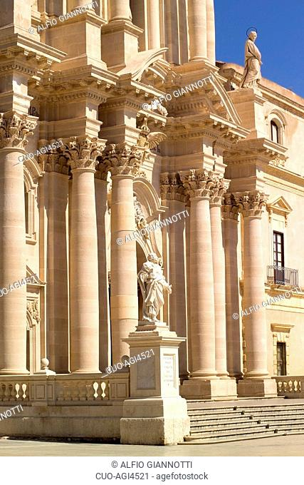 Particular, Cathedral, Ortigia, Province of Syracuse, Sicily, Italy , Europe
