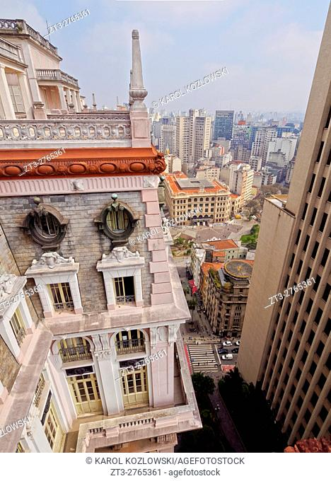 Brazil, State of Sao Paulo, City of Sao Paulo, View of the Martinelli Building