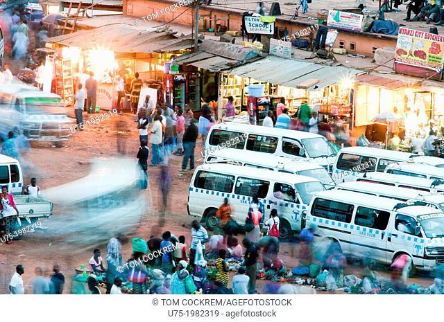 'Taxis' at main bus station, downtown Kampala, Uganda