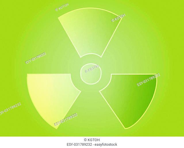Illustration of radiation hazard warning alert symbol