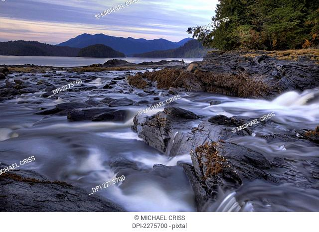 Moody View Of Lunch Creek North Of Ketchikan, Southeast Alaska, Autumn, Hdr