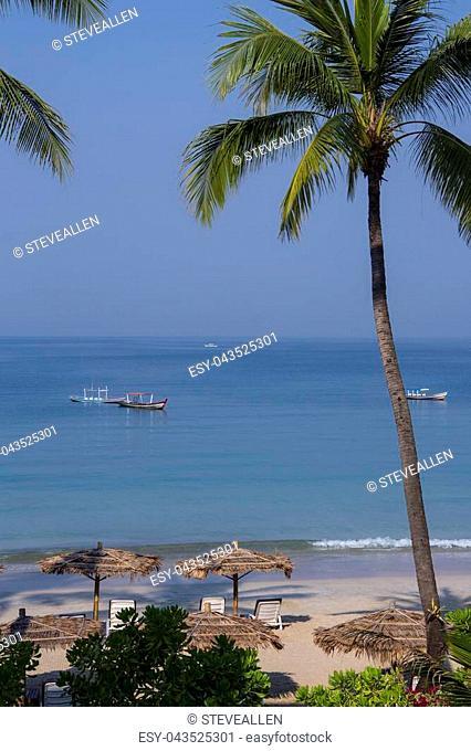 Ngapali Beach Resort in Rakhine State in Myanmar (Burma)