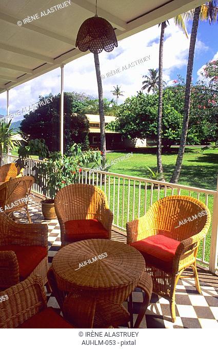 Mauritius - The Tea Route - La Route du Thé - Domaine Saint Aubin - colonial veranda