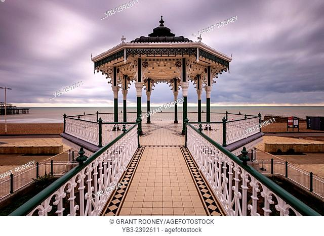 The Victorian Bandstand ( recently restored ), Brighton , Sussex , England