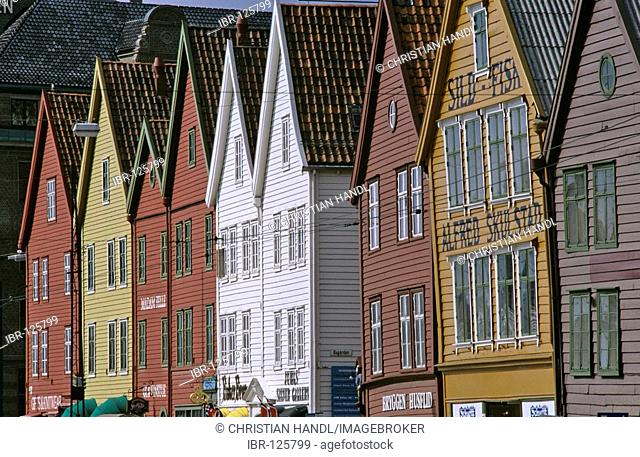 Old wooden houses in the Brygge, Bergen, Norway