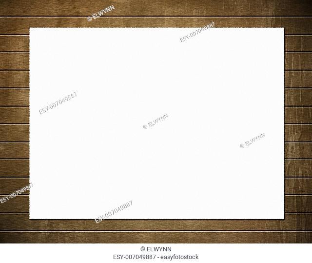White paper with blank copyspace on textured background